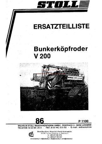 Katalog części Kombajn ziemniaczany Stoll V200