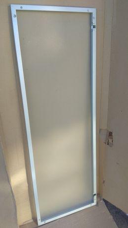 Двери алюминиевые стекло 1150x397x20мм для шкафа