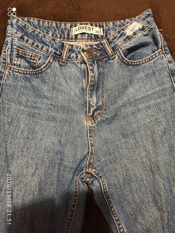 Продам Джинсы МоМ Lovest, натуральный джинс