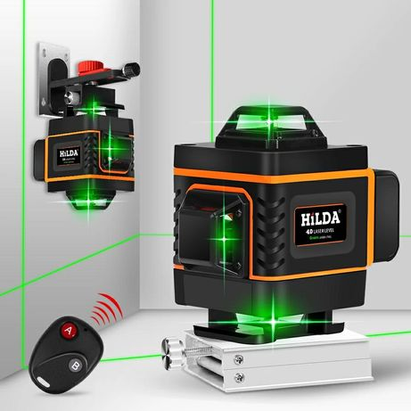 HILDA 4D лазерный уровень,16 линий ,нивелир, зеленый луч