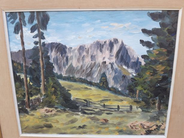 Obraz Olejny na Płótnie Pejzaż Górski