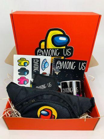 Among Us набор - Подарочный Бокс Амонг Ас Maxi Box бананка чашка маска