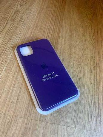 Apple etui case iphone 11 fioletowy