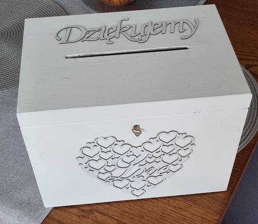Drewniane pudełko na koperty SKRZYNKA Ślub Wesele