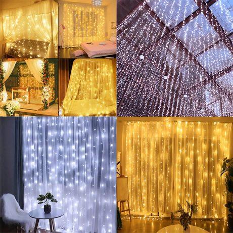 KURTYNA LEDowa ścianka ślubna światełka GIRLANDA NOWE ślub WESELE