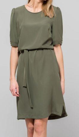 sukienka r. 36 S monnari zielona khaki pasek prosta nowa suit solar