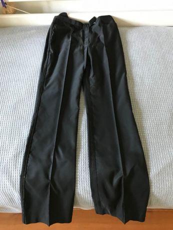 MAX&CO Couture Calças pretas ligeiramente brilhantes tam 40