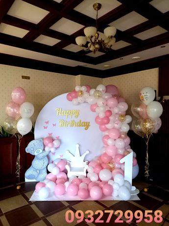 Фотозона для дітей, юбілей, хрещення, день народження трон,стіл,каркас