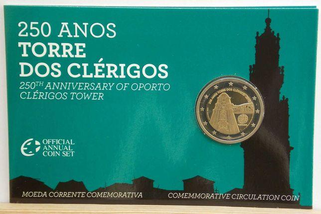 Moeda 2€ euros comemorativa Portugal 2013 - Torre dos clérigos - Proof
