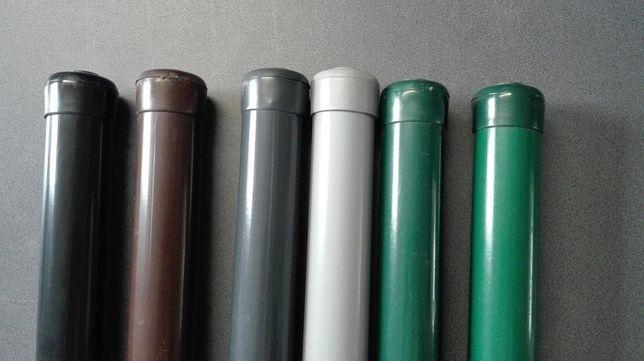 Słupki ogrodzeniowe powlekane PCV fi 42 mm