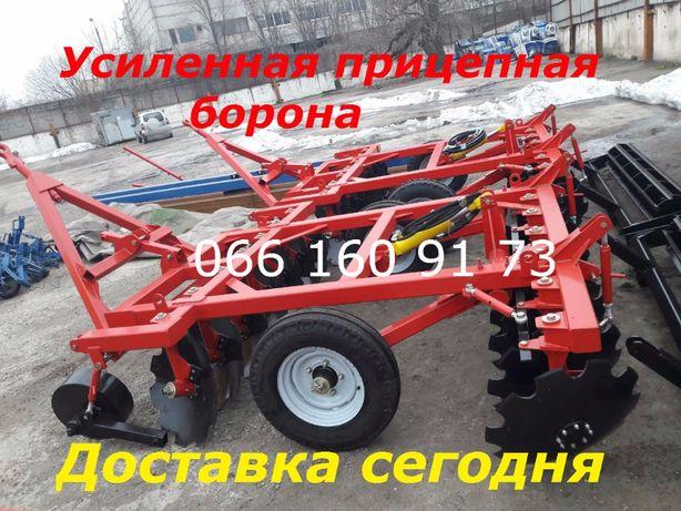 Лучшая ПРИЦЕПНАЯ Борона БДП-2,5 (колеса в середине)для МТЗ-82,МТЗ-892