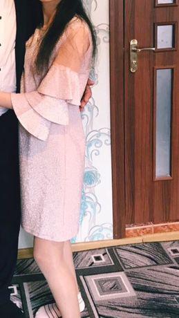 платье на выпускной розовое блестящее СРОЧНО