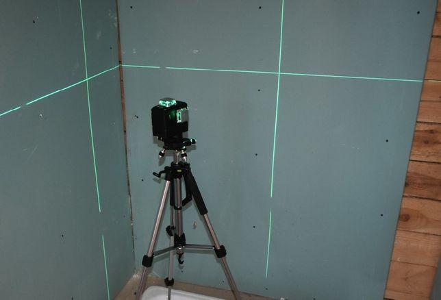 Poziomica 3x360/ Niwelator / Laser płaszczyznowy AUTOPOZIOM. + BLOKADA