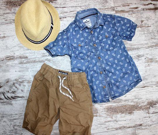 Шведка рубашка джинсовая на 3-4 года Rebel ананасы