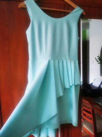 Nowa asymetryczna sukienka r. 38