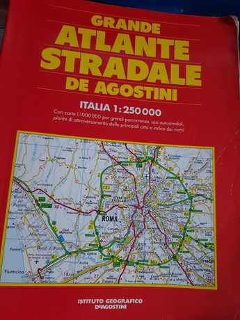 grande atlante stradale deagostini  de agostini włochy italia mapa