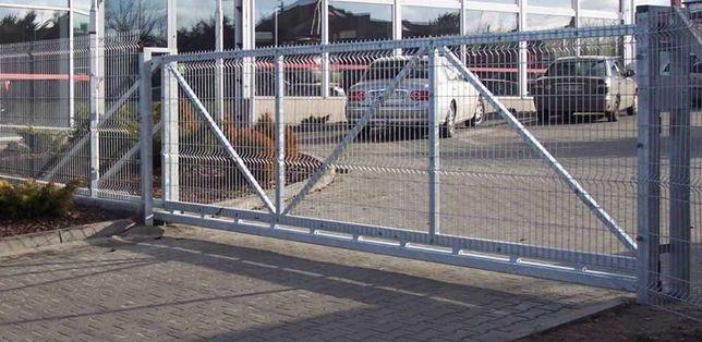 Brama Wjazdowa Przesuwna Panelowa Ocynk Malowanie Proszkowe Elbląg