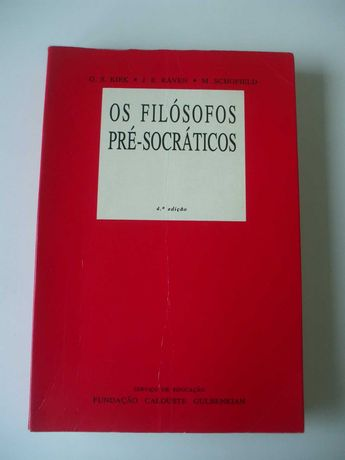 Os filósofos pré-socráticos, G. S. Kirk, J. E. Raven, M. Schofield