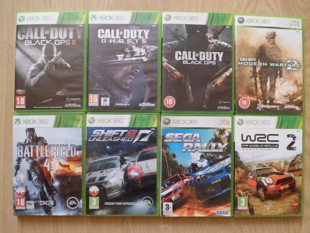 Gry Xbox 360-Call Of Duty,Shift 2,WRC 2,Sega Rally,Battleffield 4,gra