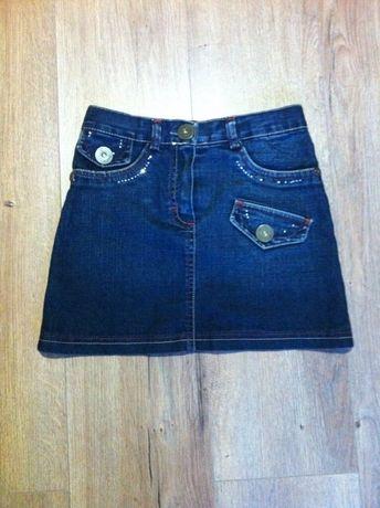Брендовая джинсовая юбка на 10-12 лет