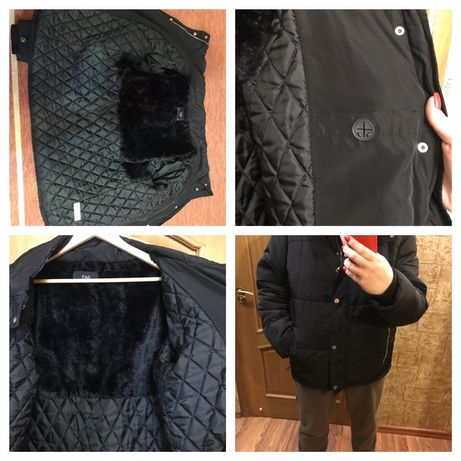 Зимняя куртка пуффер дубленка теплая 50