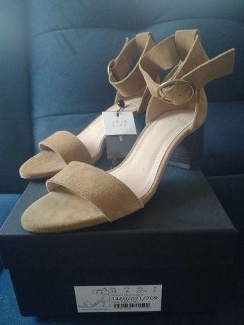 Śliczne skórzane sandałki Massimo Dutti, rozmiar 36-37