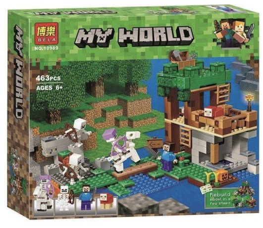 Minecraft my world Нападение скелетов на ферму. Аналог Лего