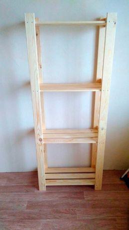 Деревянный стеллаж этажерка стелаж