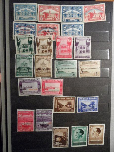 Hiszpania czyste stare znaczki pocztowe zestaw
