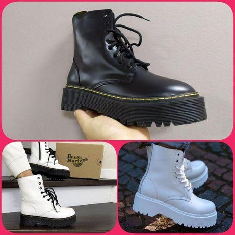 Dr.Martenes BOOTS Black White ∎Премиум ботинки ∎Люкс Качество Мартинсы