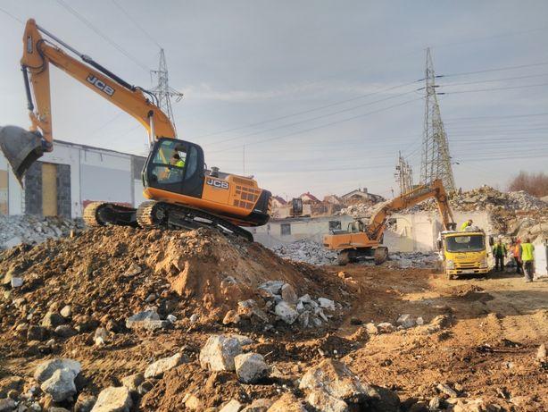 Koparka gąsienicowa 1-28 ton ,roboty ziemne i rozbiórkowe Katowice.