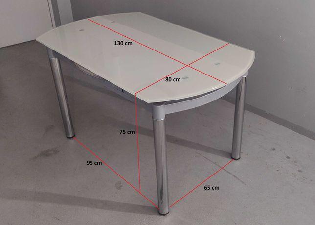 Stół do salonu. Szklany, rozkładany, NESTOR