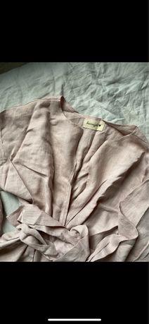 Brunoszka perfect kimono shirt lniana koszula dust pink