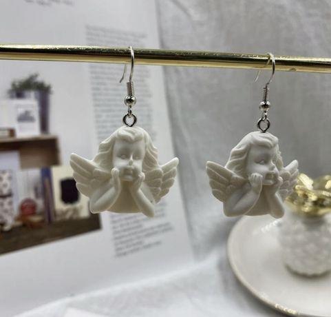 Серьги сережки ангелы херувимы