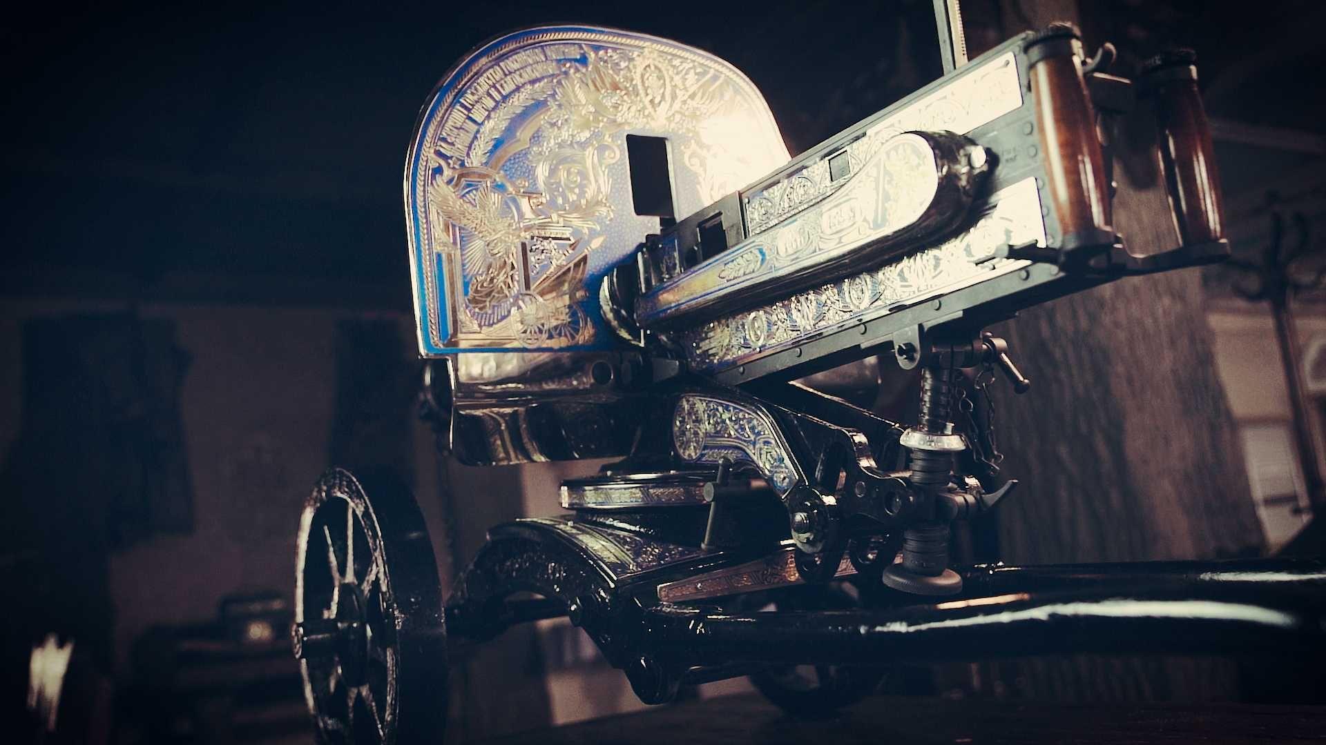 Дорогой VIP подарок макет Пулемет Максим украшенный золотом