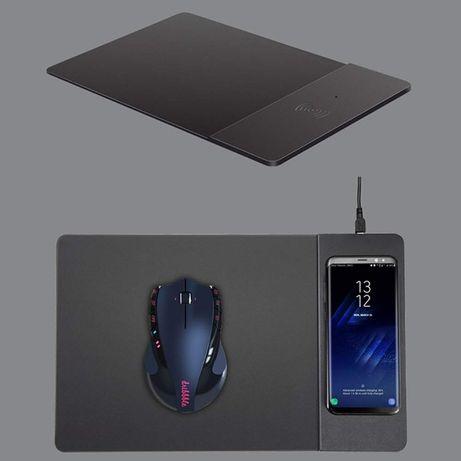 ШВИДКА Безпровідна зарядка iPhone - коврик для мишки 2в1 QI FAST CHARG