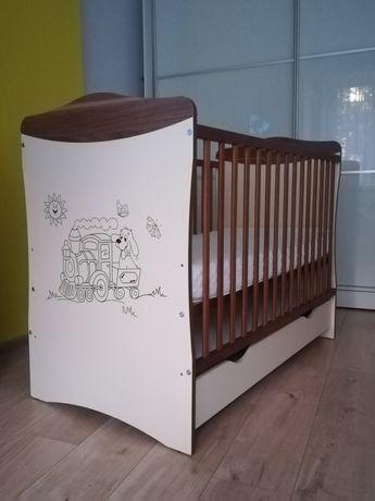 Łóżeczko dziecięce 120x60 + materac HEVEA