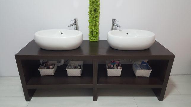 Zestaw szafka łazienkowa z umywalka - miska, bateria łazienkowa x2 .