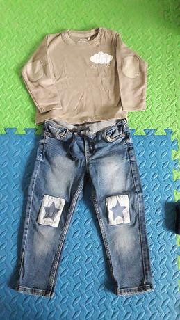 Spodnie H&M + bluzka 86