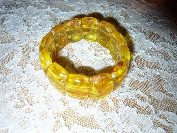 Bursztynowa bransoletka jod tarczyca zdrowa +prezent gratis