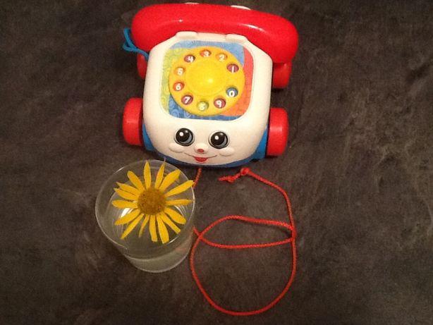FISHER-PRICE, США, Каталка Веселый Телефон с 6 месяцев