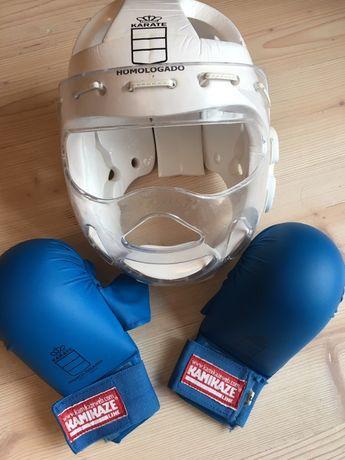 Ochraniacz i rękawice do karate/ taekwondo