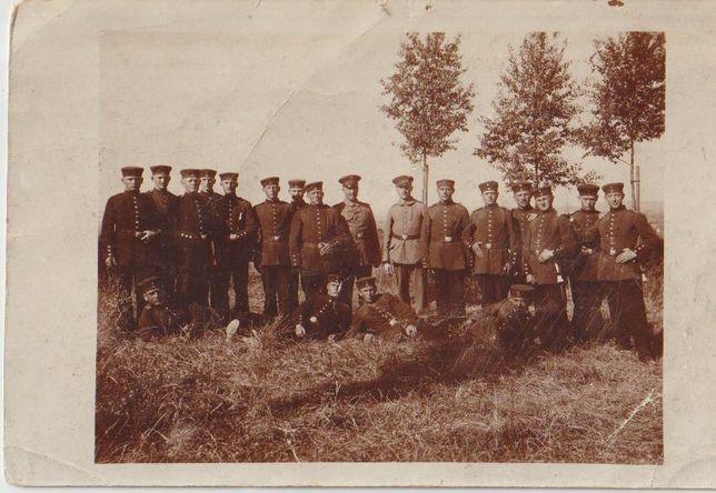Stare zdjęcia fotografie żołnierze I Wojna