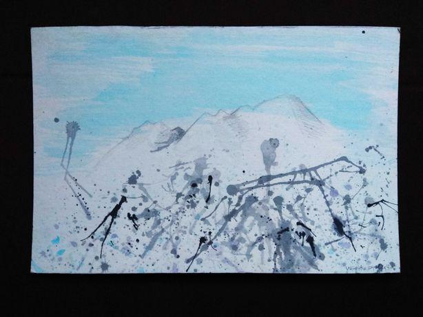 Obraz pejzaż krajobraz góry abstrakcja ekspresja