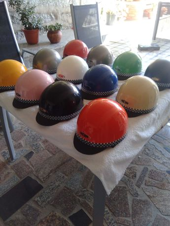 Capacete penico vintage (várias cores)