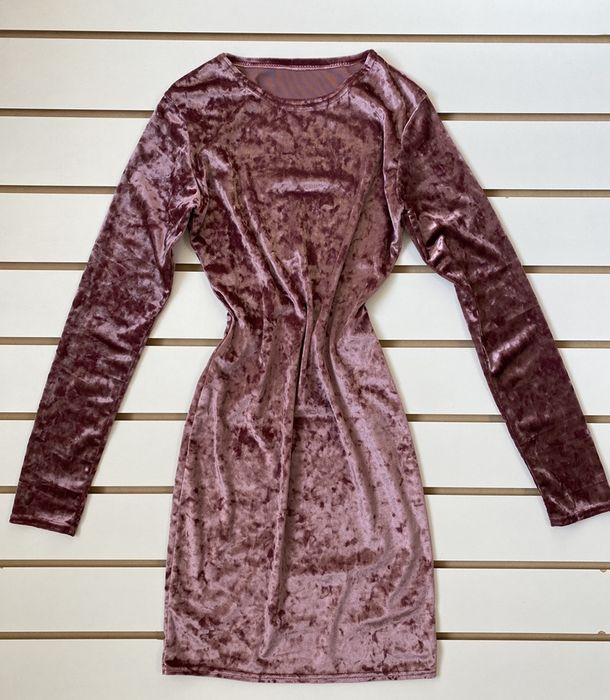 Красивое велюровое платье, ткань тянется, размер 42 S Киев - изображение 1