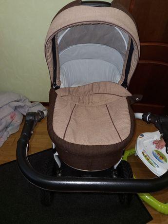Детская коляска 2 в 1 Victoria Gold коричневач