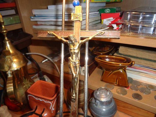Crucifixo Latão Muito Lindo 23x13cm mais ou menos