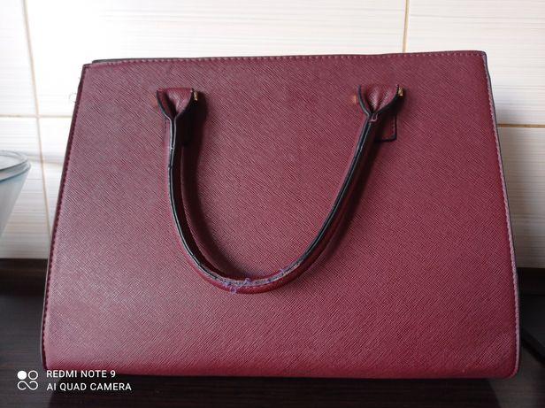 Sinsay torebka kuferek średnia do ręki i na pasku