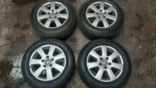 Koła zimowe, felgi aluminiowe z oponami 5x112 Audi VW Skoda 195/65/15